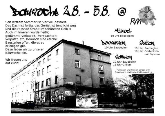 RM16 Dresden Pieschen Bauwoche 02.08 - 05.08.20178.